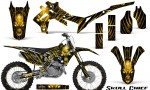 Honda CRF450R 2013 2014 Graphics Kit Skull Chief Yellow NP Rims 150x90 - Honda CRF450R 2013-2015 Graphics