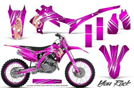 Honda CRF450R 2013 2014 Graphics Kit You Rock Pink NP Rims 570x376 - Honda CRF450R 2013-2016 Graphics