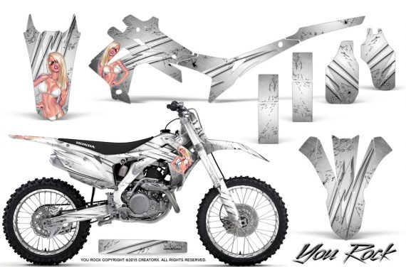 Honda CRF450R 2013 2014 Graphics Kit You Rock White NP Rims 570x376 - Honda CRF450R 2013-2015 Graphics