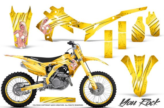 Honda CRF450R 2013 2014 Graphics Kit You Rock Yellow NP Rims 570x376 - Honda CRF450R 2013-2015 Graphics