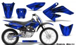 Honda CRF 70 80 100 Graphics Kit Tribal Bolts Blue 150x90 - Honda CRF70 2004-2015 Graphics