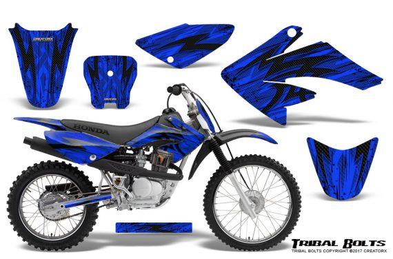 Honda CRF 70 80 100 Graphics Kit Tribal Bolts Blue 570x376 - Honda CRF70 2004-2015 Graphics