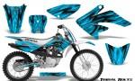 Honda CRF 70 80 100 Graphics Kit Tribal Bolts BlueIce 150x90 - Honda CRF70 2004-2015 Graphics