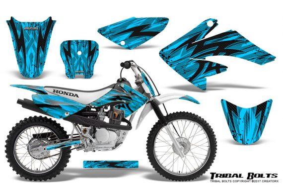 Honda CRF 70 80 100 Graphics Kit Tribal Bolts BlueIce 570x376 - Honda CRF70 2004-2015 Graphics
