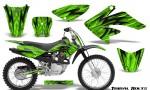 Honda CRF 70 80 100 Graphics Kit Tribal Bolts Green 150x90 - Honda CRF70 2004-2015 Graphics