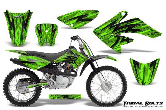 Honda CRF 70 80 100 Graphics Kit Tribal Bolts Green 570x376 - Honda CRF70 2004-2015 Graphics