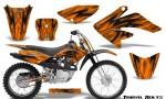 Honda CRF 70 80 100 Graphics Kit Tribal Bolts Orange 150x90 - Honda CRF70 2004-2015 Graphics