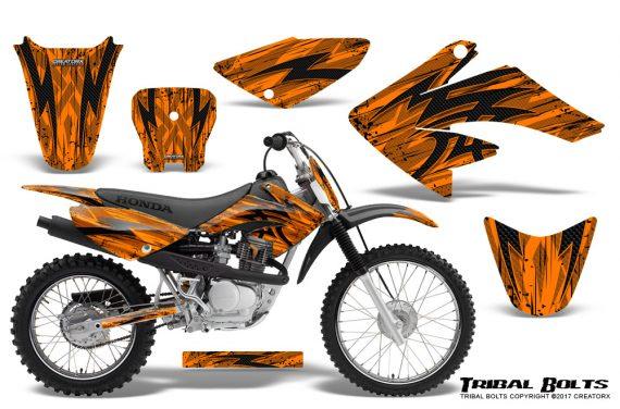 Honda CRF 70 80 100 Graphics Kit Tribal Bolts Orange 570x376 - Honda CRF70 2004-2015 Graphics