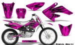 Honda CRF 70 80 100 Graphics Kit Tribal Bolts Pink 150x90 - Honda CRF70 2004-2015 Graphics