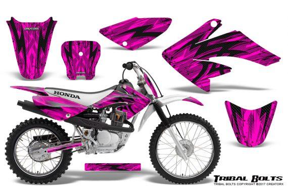 Honda CRF 70 80 100 Graphics Kit Tribal Bolts Pink 570x376 - Honda CRF70 2004-2015 Graphics