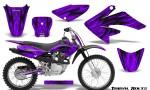 Honda CRF 70 80 100 Graphics Kit Tribal Bolts Purple 150x90 - Honda CRF70 2004-2015 Graphics