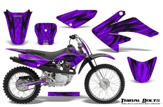 Honda CRF 70 80 100 Graphics Kit Tribal Bolts Purple 570x376 - Honda CRF70 2004-2015 Graphics