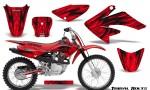Honda CRF 70 80 100 Graphics Kit Tribal Bolts Red 150x90 - Honda CRF70 2004-2015 Graphics