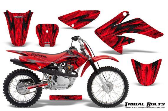Honda CRF 70 80 100 Graphics Kit Tribal Bolts Red 570x376 - Honda CRF70 2004-2015 Graphics