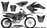 Honda CRF 70 80 100 Graphics Kit Tribal Bolts Silver 150x90 - Honda CRF70 2004-2015 Graphics