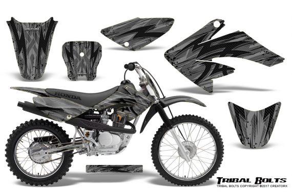Honda CRF 70 80 100 Graphics Kit Tribal Bolts Silver 570x376 - Honda CRF70 2004-2015 Graphics