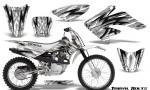 Honda CRF 70 80 100 Graphics Kit Tribal Bolts White 150x90 - Honda CRF70 2004-2015 Graphics