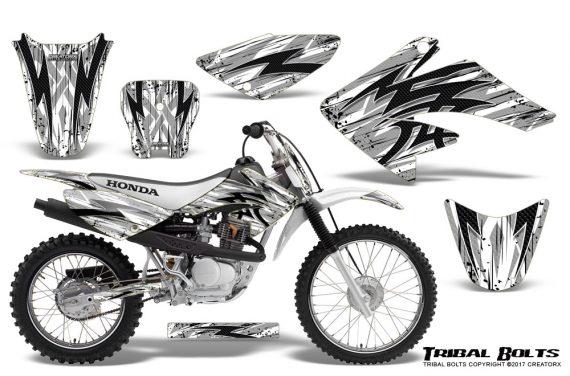 Honda CRF 70 80 100 Graphics Kit Tribal Bolts White 570x376 - Honda CRF70 2004-2015 Graphics