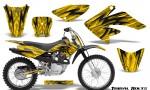 Honda CRF 70 80 100 Graphics Kit Tribal Bolts Yellow 150x90 - Honda CRF70 2004-2015 Graphics