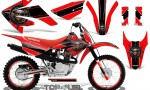 Honda CRF 80 100 2011 2012 CreatorX Graphics Kit Top Fuel Black Red Rims 150x90 - Honda CRF80 CRF100 2011-2015 Graphics