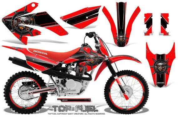 Honda CRF 80 100 2011 2012 CreatorX Graphics Kit Top Fuel Black Red Rims 570x376 - Honda CRF80 CRF100 2011-2015 Graphics