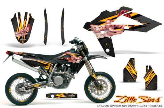 Husqvarna SMR 05 07 CreatorX Graphics Kit Little Sins Black NP Rims 570x376 - Husqvarna SM-SMR122-530 05-10 TC-TE250 05-13 TC-TE450 05-10 Graphics