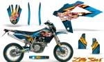 Husqvarna SMR 05 07 CreatorX Graphics Kit Little Sins Blue Ice NP Rims 150x90 - Husqvarna SM-SMR122-530 05-10 TC-TE250 05-13 TC-TE450 05-10 Graphics