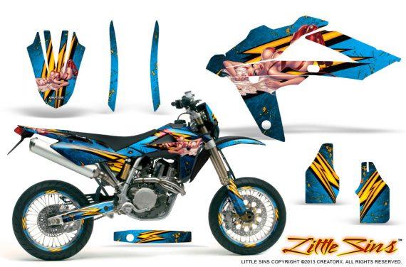 Husqvarna SMR 05 07 CreatorX Graphics Kit Little Sins Blue Ice NP Rims 570x376 - Husqvarna SM-SMR122-530 05-10 TC-TE250 05-13 TC-TE450 05-10 Graphics