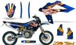 Husqvarna SMR 05 07 CreatorX Graphics Kit Little Sins Blue NP Rims 150x90 - Husqvarna SM-SMR122-530 05-10 TC-TE250 05-13 TC-TE450 05-10 Graphics