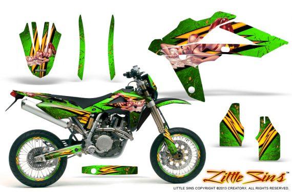 Husqvarna SMR 05 07 CreatorX Graphics Kit Little Sins Green NP Rims 570x376 - Husqvarna SM-SMR122-530 05-10 TC-TE250 05-13 TC-TE450 05-10 Graphics