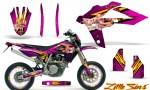 Husqvarna SMR 05 07 CreatorX Graphics Kit Little Sins Pink NP Rims 150x90 - Husqvarna SM-SMR122-530 05-10 TC-TE250 05-13 TC-TE450 05-10 Graphics
