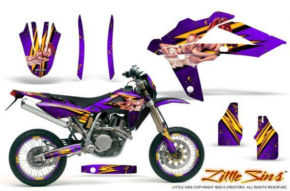 Husqvarna SMR 05 07 CreatorX Graphics Kit Little Sins Purple NP Rims 570x376 - Husqvarna SM-SMR122-530 05-10 TC-TE250 05-13 TC-TE450 05-10 Graphics