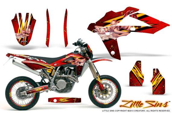 Husqvarna SMR 05 07 CreatorX Graphics Kit Little Sins Red NP Rims 570x376 - Husqvarna SM-SMR122-530 05-10 TC-TE250 05-13 TC-TE450 05-10 Graphics