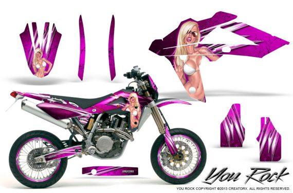 Husqvarna SMR 05 07 CreatorX Graphics Kit You Rock Pink NP Rims 570x376 - Husqvarna SM-SMR122-530 05-10 TC-TE250 05-13 TC-TE450 05-10 Graphics