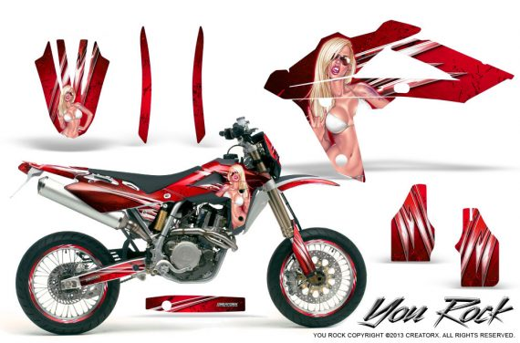 Husqvarna SMR 05 07 CreatorX Graphics Kit You Rock Red NP Rims 570x376 - Husqvarna SM-SMR122-530 05-10 TC-TE250 05-13 TC-TE450 05-10 Graphics