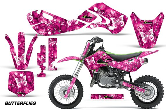 KAWASAKI KLX110 KX65 Graphic Kit Butterflies WP 570x376 - Kawasaki KX65 2002-2017 Graphics