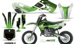 KAWASAKI KLX110 KX65 Graphic Kit Carbon X G 150x90 - Kawasaki KX65 2002-2017 Graphics