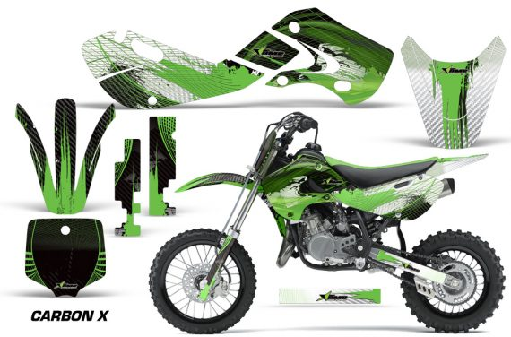 KAWASAKI KLX110 KX65 Graphic Kit Carbon X G 570x376 - Kawasaki KX65 2002-2017 Graphics