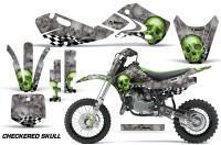 KAWASAKI-KLX110-KX65-Graphic-Kit-Checkered-Skull
