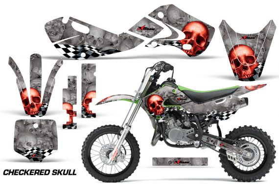 KAWASAKI KLX110 KX65 Graphic Kit Checkered Skull RS 570x376 - Kawasaki KX65 2002-2017 Graphics