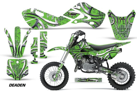 KAWASAKI KLX110 KX65 Graphic Kit Deaden G 570x376 - Kawasaki KX65 2002-2017 Graphics