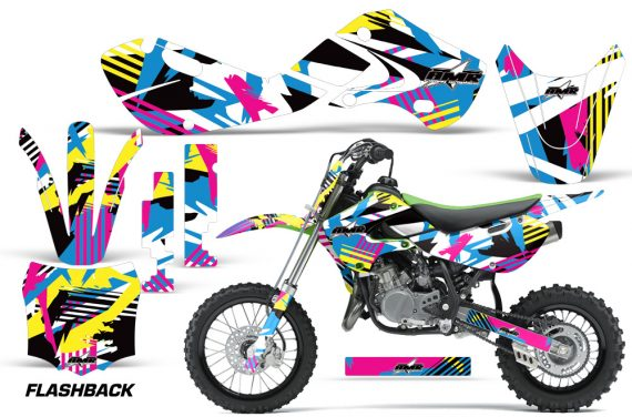 KAWASAKI KLX110 KX65 Graphic Kit Flashback 570x376 - Kawasaki KX65 2002-2017 Graphics