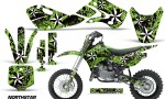 KAWASAKI KLX110 KX65 Graphic Kit Northstar G 150x90 - Kawasaki KX65 2002-2017 Graphics