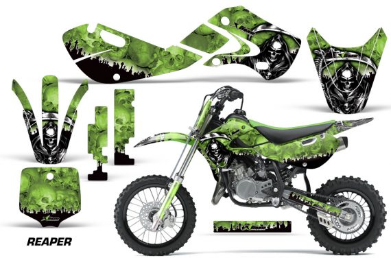 KAWASAKI KLX110 KX65 Graphic Kit Reaper G 570x376 - Kawasaki KX65 2002-2017 Graphics