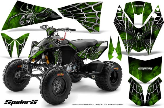 KTM 525 XC 08 SpiderX CreatorX Graphics Kit Green 570x376 - KTM 450/505/525 ATV Graphics