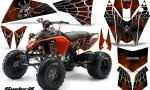 KTM 525 XC 08 SpiderX CreatorX Graphics Kit Orange 150x90 - KTM 450/505/525 ATV Graphics