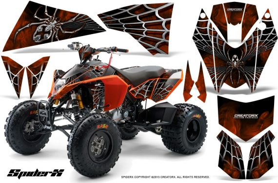 KTM 525 XC 08 SpiderX CreatorX Graphics Kit Orange 570x376 - KTM 450/505/525 ATV Graphics