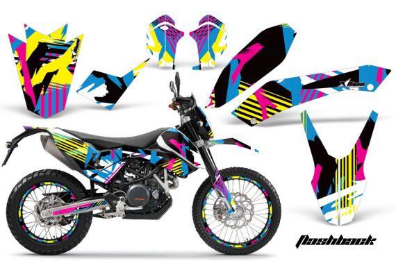 KTM 690 AMR Graphics Kit FLASHBACK NPs 570x376 - KTM Adventurer 690 Supermoto Enduro 2008-2011 Graphics