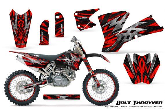 KTM C1 SX EXC MXC CreatorX Graphics Kit Bolt Thrower Red NP Rims 570x376 - KTM C1 SX 2001-2004 EXC 2003-2004 Graphics