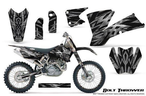 KTM C1 SX EXC MXC CreatorX Graphics Kit Bolt Thrower Silver NP Rims 570x376 - KTM C1 SX 2001-2004 EXC 2003-2004 Graphics